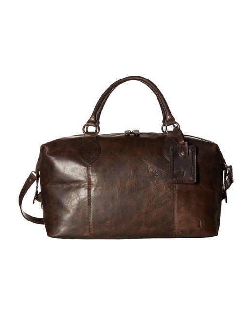 Frye - Multicolor Logan Overnight (slate Antique Pull Up) Satchel Handbags for Men - Lyst