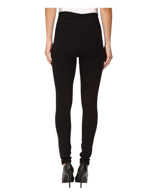 91265db71017c Lyst - Hue Double Knit Shaping Leggings (black) Women s Casual Pants ...