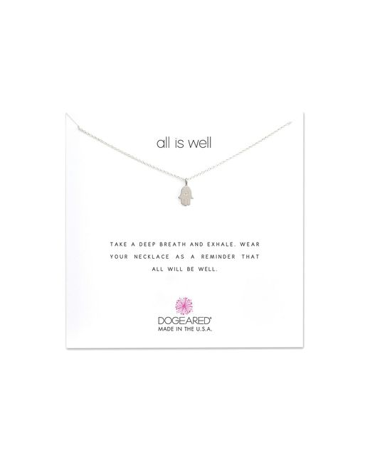 Dogeared - Metallic All Is Well Hamsa Reminder Necklace (gold) Necklace - Lyst