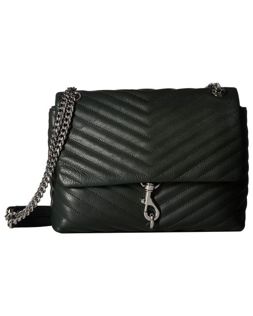 Rebecca Minkoff Black E Flap Shoulder Bag Pine Handbags Lyst