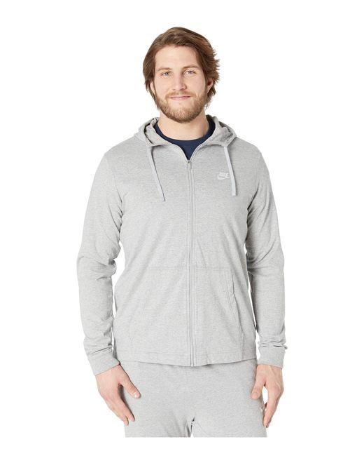 5178bc6cd50 Nike - Gray Big Tall Nsw Club Jersey Full Zip Hoodie (black white) ...