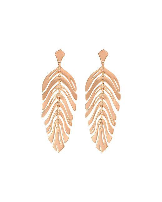 Kendra Scott - Metallic Lotus Earrings (rose Gold Metal) Earring - Lyst