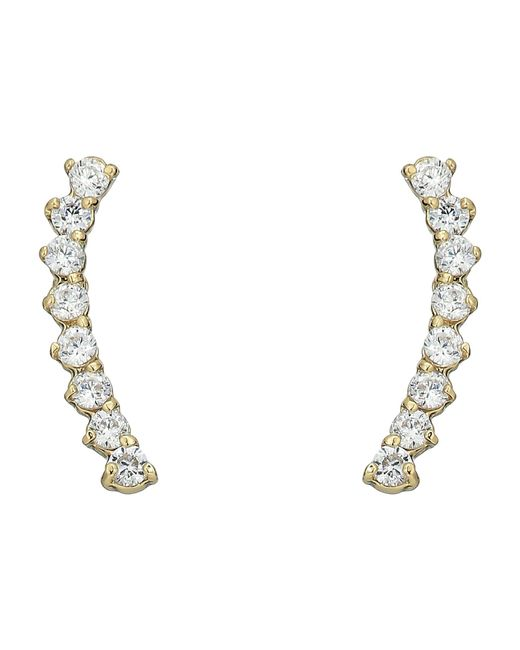 Vince Camuto - Metallic Cubic Zirconia Thin Stud Earrings (silver) Earring - Lyst