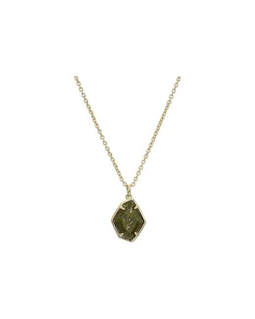 Kendra Scott Green Ellington Short Pendant Necklace