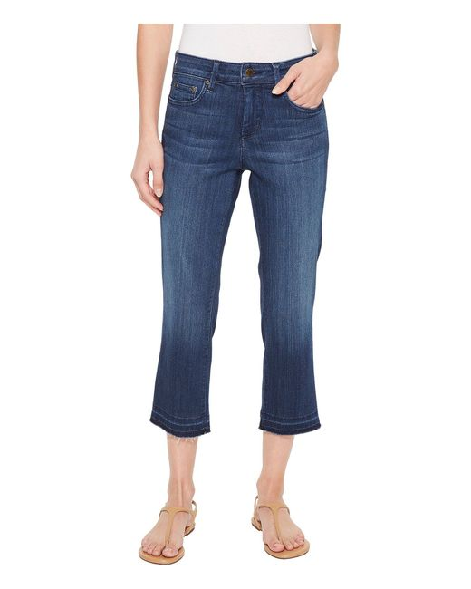 NYDJ - Blue Capris W/ Released Hem In Lark - Lyst