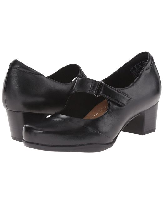 Clarks - Rosalyn Wren (black Leather) High Heels - Lyst