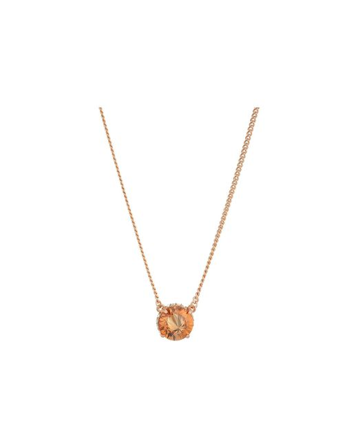 Vince Camuto - Metallic 18 Cubic Zirconia Rivoli Solitaire Pendant Necklace (rose Gold) Necklace - Lyst