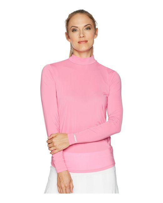 Jamie Sadock - Pink Sunsense® Mandarin Collar Layering Shirt - Lyst