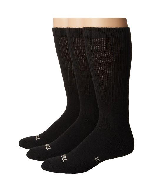 Thorlo | Black Everyday Comfort Crew 3-pair Pack for Men | Lyst