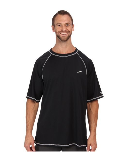 Speedo - Black Easy S/s Swim Tee (big) for Men - Lyst