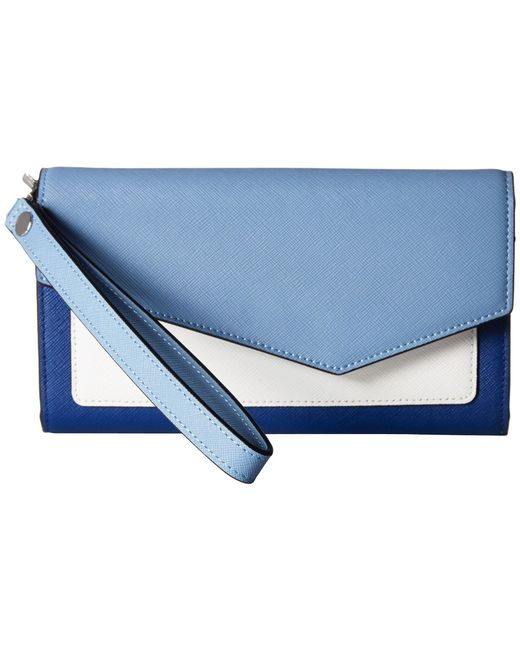 Botkier - Blue Cobble Hill Leather Continental Wallet - Lyst