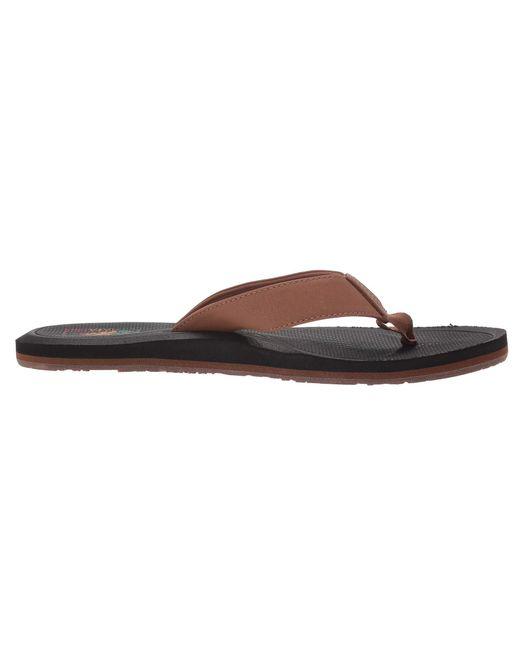 vans sandals brown