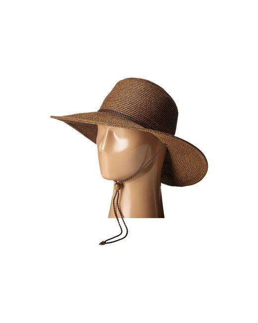 San Diego Hat Company - Brown Ubm4453 4 Inch Brim Sun Hat With Twisted Adjustable Chin Cord - Lyst