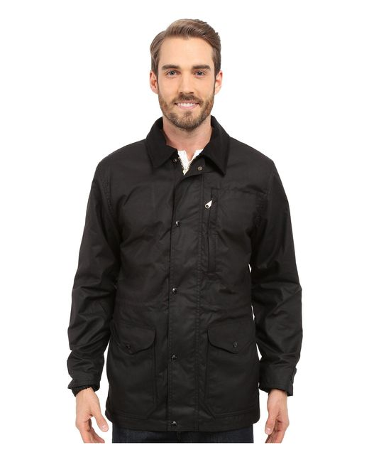 Filson - Cover Cloth Mile Marker Coat (black) Men's Coat for Men - Lyst