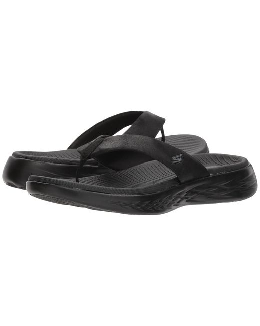 19f302060a2f Lyst - Skechers On-the-go 600 - Polished (black) Women s Sandals in ...