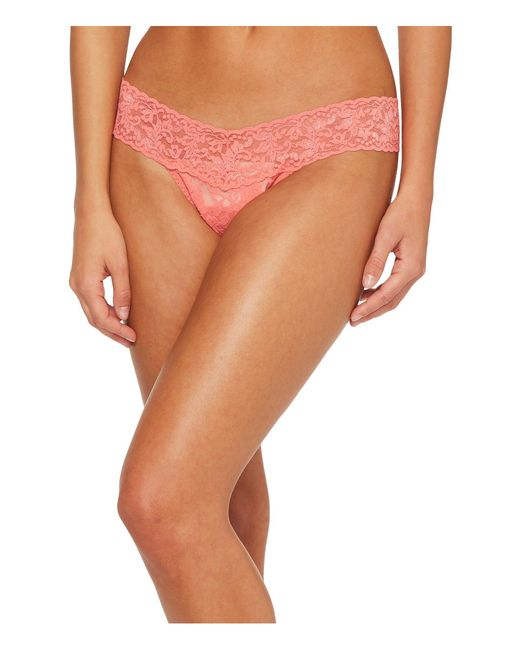 Hanky Panky - Orange Signature Lace Low Rise Thong (periwinkle) Women's Underwear - Lyst