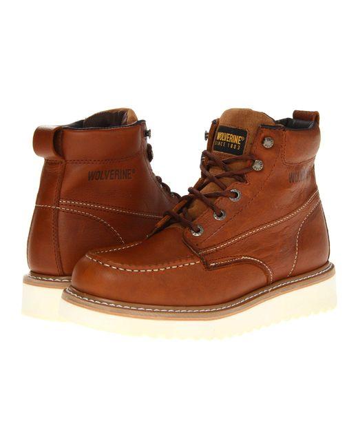 Wolverine - Moc Toe Wedge (brown) Men's Work Boots for Men - Lyst