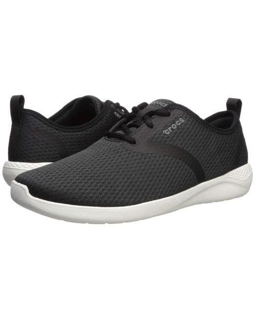 714ecf472f88b4 Lyst - Crocs™ Literide Mesh Lace in Black for Men - Save 30%