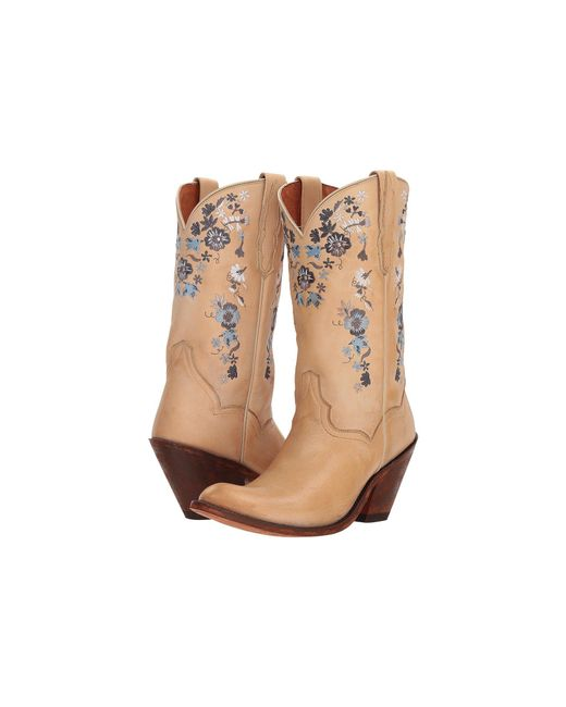 Dan Post - Natural Flower Girl (bone) Women's Pull-on Boots - Lyst