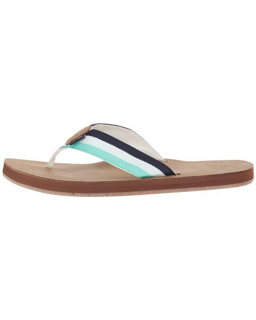 b4874c8b6e803 ... Vineyard Vines - Leather Grosgrain Flip-flops (capri Blue) Men s Sandals  ...