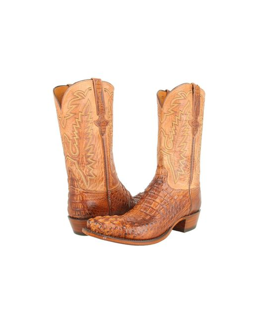 Lucchese - Brown L1331 (tan Burnished Mad Dog Hornback/tan Burnished Mad Dog Goat) Cowboy Boots for Men - Lyst