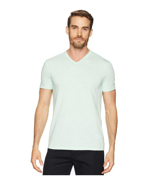 Calvin Klein - Green Mixed Media V-neck Tee (stellar) Men's T Shirt for Men - Lyst