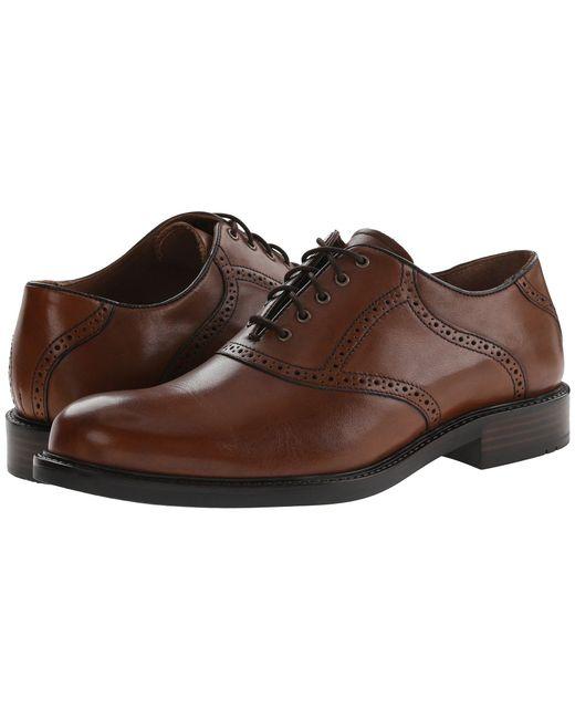 Johnston & Murphy - Tabor Saddle Dress Oxford (brown Oiled Nubuck/mahogany) Men's Plain Toe Shoes for Men - Lyst