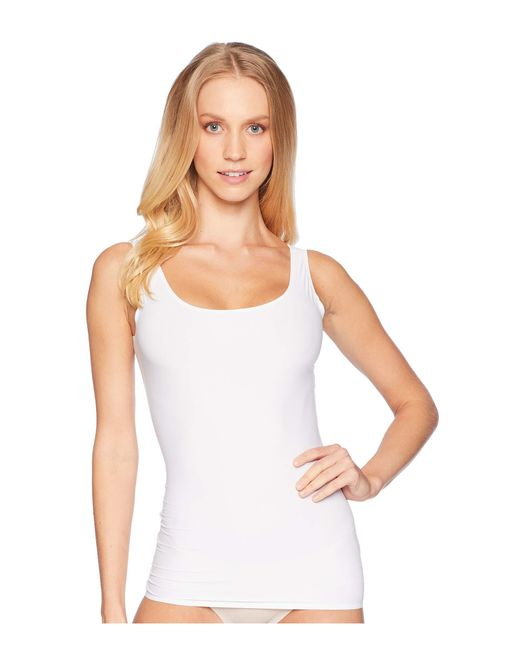 Yummie - White 6-in-1 Shaping Tank Top W/ Bonded Construction (black) Women's Sleeveless - Lyst