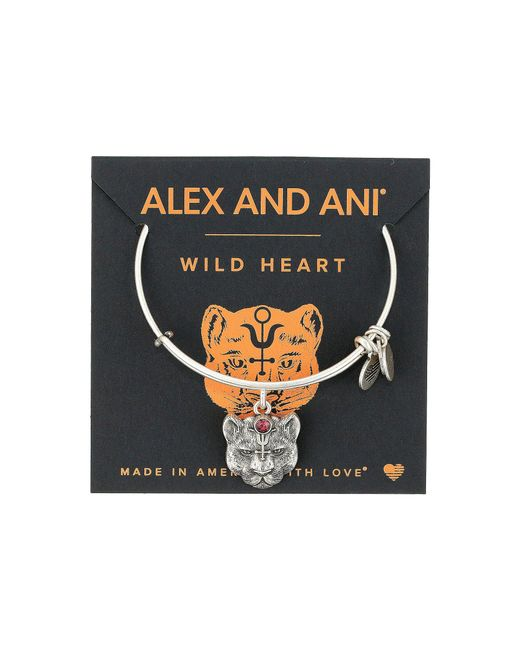 ALEX AND ANI - Metallic Path Of Symbols - Wild Heart Ii Bangle - Lyst