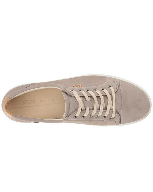 1eb394ae5f1f ... Ecco - Gray Soft 7 Sneaker (white white) Women s Lace Up Casual Shoes  ...