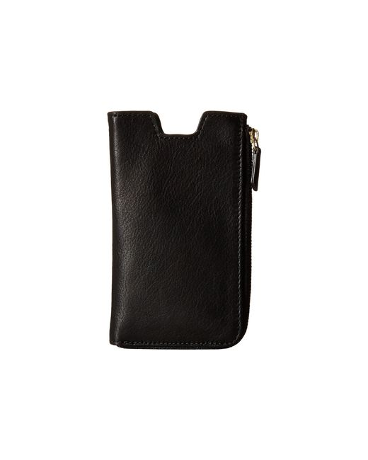Fossil | Black Phone Slide Wallet | Lyst