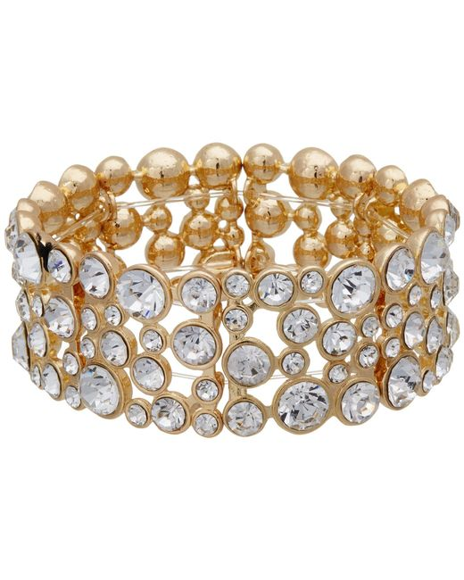 Guess - Metallic Stone Stretch Bracelet (gold/crystal) Bracelet - Lyst