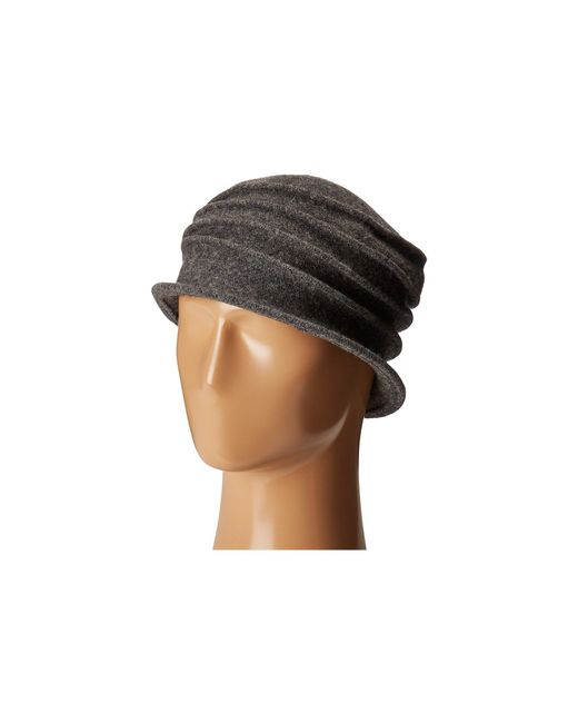 San Diego Hat Company - Gray Cth8089 Soft Knit Cloche With Accordion Detail (grey) Knit Hats - Lyst