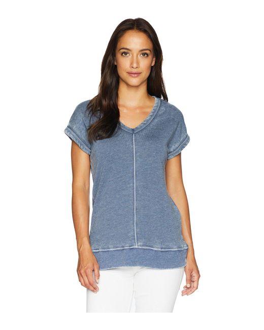 Allen Allen - Blue Cap Sleeve Vee (lapis) Women's Clothing - Lyst
