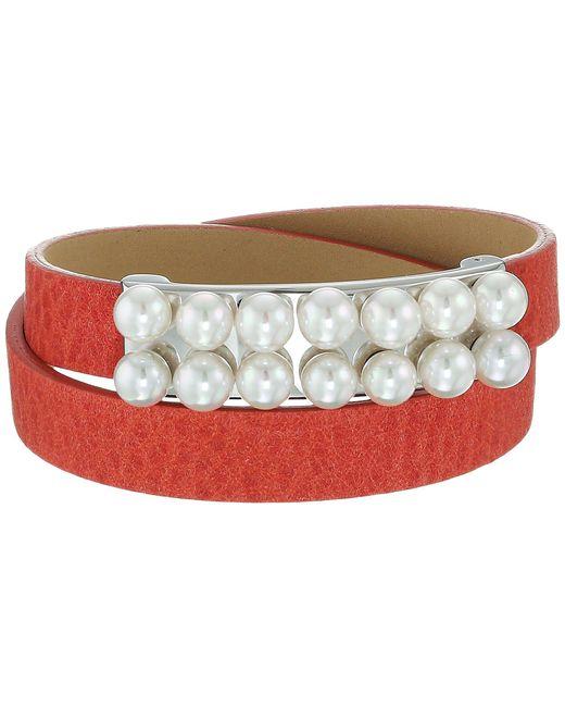 Majorica   Multicolor 6mm Leather Bracelet   Lyst