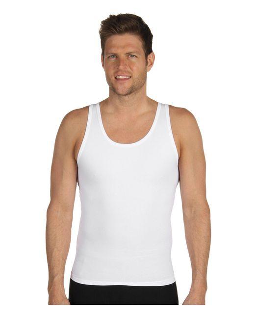 Spanx - White Cotton Compression Tank for Men - Lyst