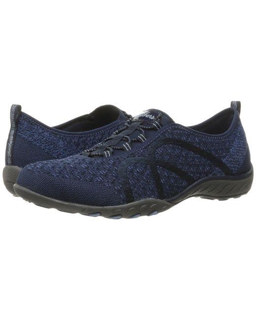 Skechers - Blue Breathe-easy - Fortuneknit (black) Women's Shoes - Lyst