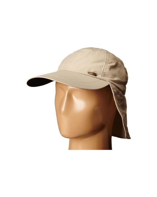 Stetson - Brown No Fly Zone Nylon Cap With Sun Shield for Men - Lyst