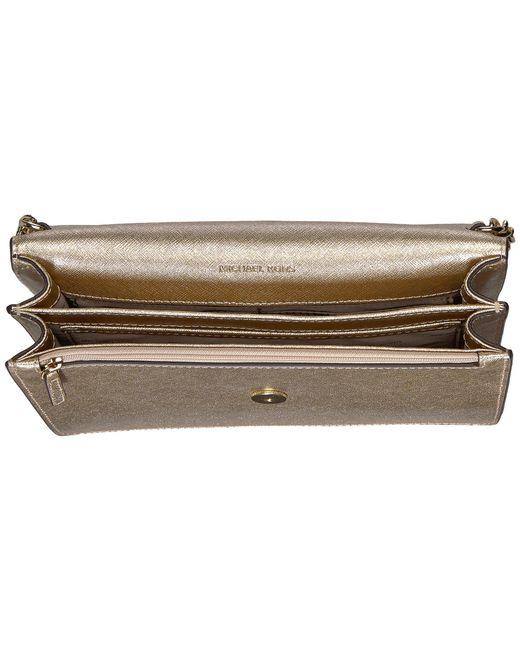 58d4a0b09f84 ... MICHAEL Michael Kors - Multicolor Large Gusset Crossbody (pale Gold)  Cross Body Handbags ...