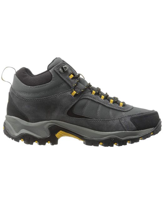 c0448f8711 ... Columbia - Gray Granite Ridge Mid Waterproof (dark Grey golden Yellow) Men s  Shoes ...