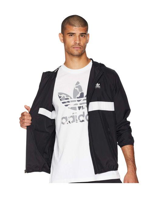 ce4dca995746 ... Adidas Originals - Blackbird Packable Wind Jacket (black white) Men s  Coat for Men ...