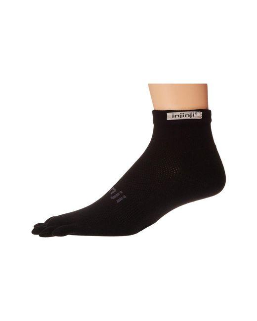 Injinji - Run Original Weight Mini-crew Coolmax 3 Pair Pack (black) Low Cut Socks Shoes for Men - Lyst