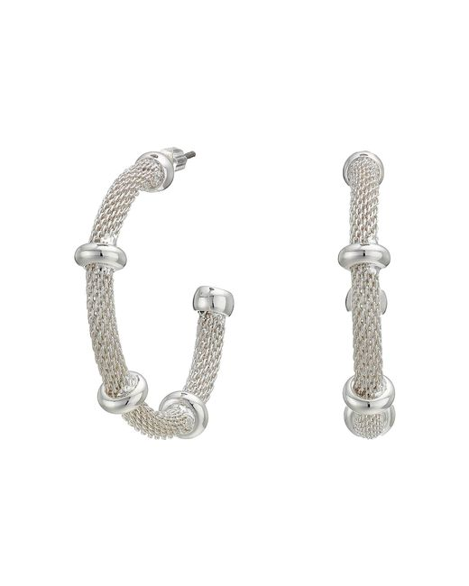 Lauren by Ralph Lauren - Metallic 28 Millimeter Mesh Hoop Earrings (gold) Earring - Lyst