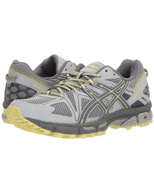 Asics - Gray Gel-kahana(r) 8 (mid Grey/carbon/limelight) Women's Running Shoes - Lyst