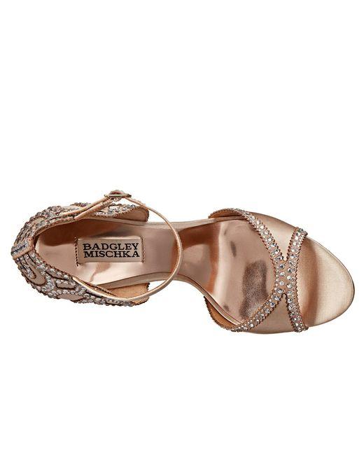 Lyst - Badgley Mischka Roxy (nude Satin) High Heels in Natural