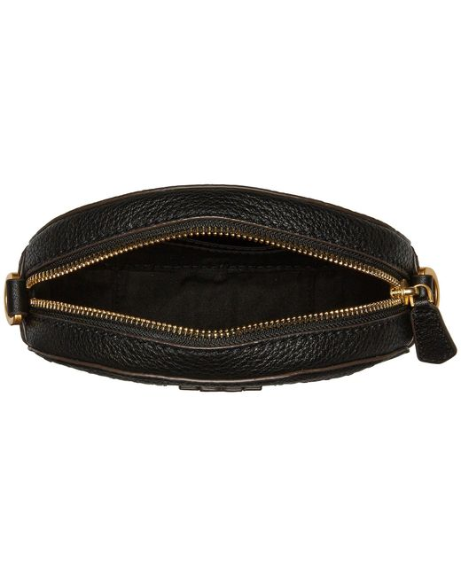 7c051346cddc ... Tory Burch - Mcgraw Round Crossbody (black) Cross Body Handbags - Lyst  ...