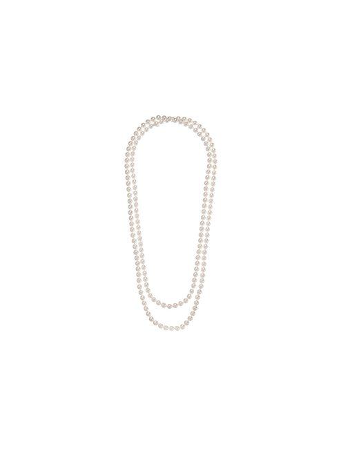 Majorica - 1 Row 8mm Endless Rope Necklace (white) Necklace - Lyst