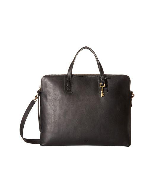 Fossil - Black Emma Laptop Bag - Lyst