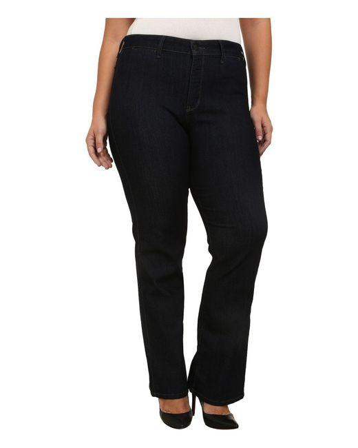 a64d0632e2682 NYDJ - Black Plus Size Isabella Trouser In Dark Enzyme (dark Enzyme)  Women s Jeans ...