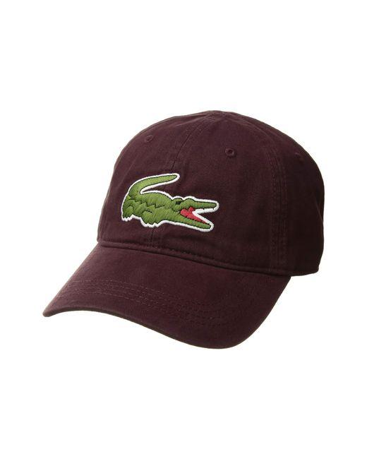 da3e1fa71ac169 Lacoste - Red Big Croc Gabardine Cap (sinople) Baseball Caps for Men - Lyst  ...